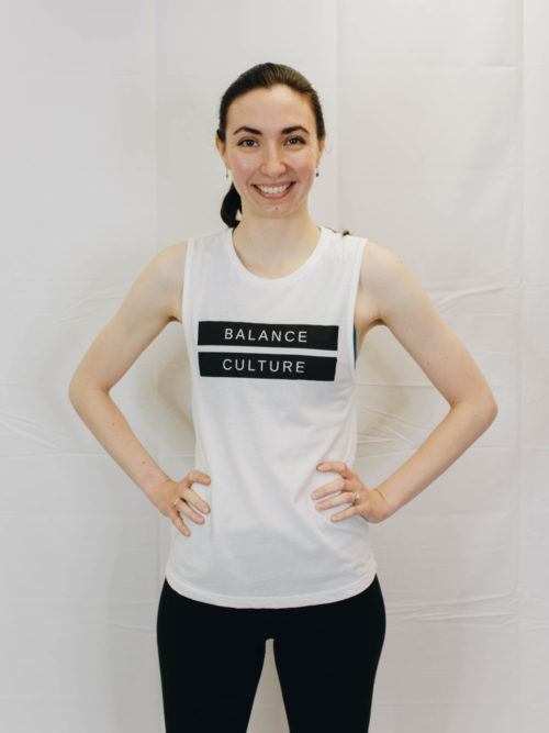 The White Muscle Tank | The Collection by The Balance Culture | Women's Fitness Studio in Lakeland, FL